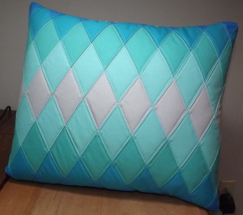 Blue Diamond Pillow