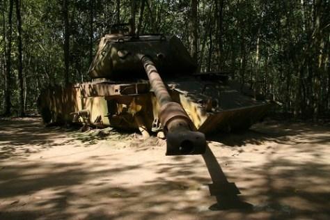 American tank near Cu Chi Tunnels, Vietnam