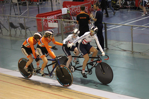 Sophie Thornhill & Rachel James (GBr) and Larissa Klaasen & Kim van Dijk (Ned)