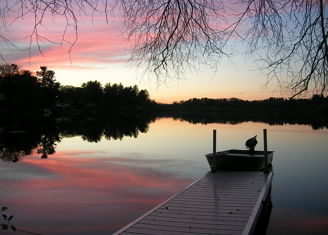 Sunset at Pond