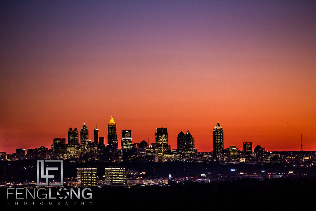Downtown Atlanta at Sunset as seen from Buckhead | Atlanta Time-Lapse Photography