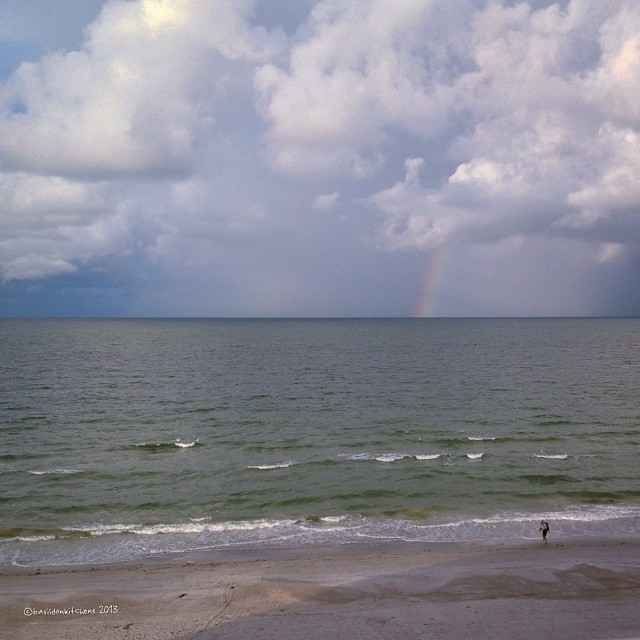 Nov 21 - I wish I had this {view again!} #fmsphotoaday #wish #vacation #beach #florida #gulfofmexico #madeirabeach #rainbow #clouds #sand #waves