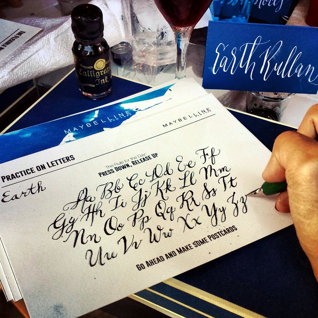 Think Ink Calligraphy Workshop with Maybelline