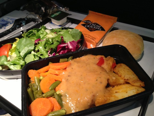 Roast chicken with gravy - United Airlines