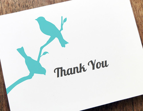 Love Birds Thank You Note Template
