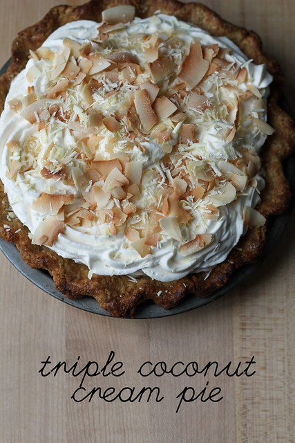 dahlia triple coconut cream pie