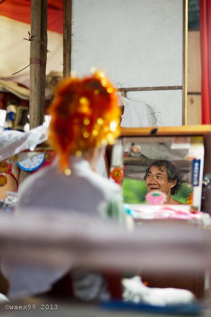 Wayang (Chinese street opera) - Hong San See Temple  - Singapore