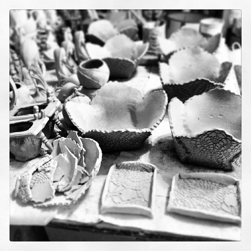 So many things to work on; so few extra hours in the day. #ceramics #greenware
