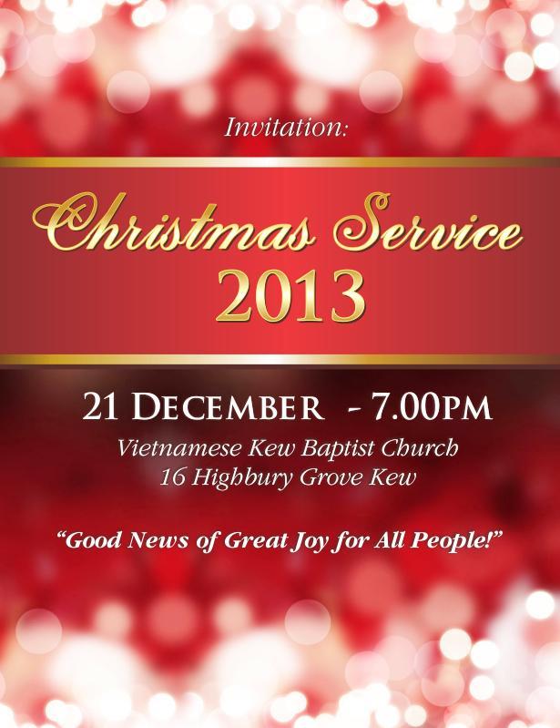 Kew Baptist Christmas Service 2013 - English