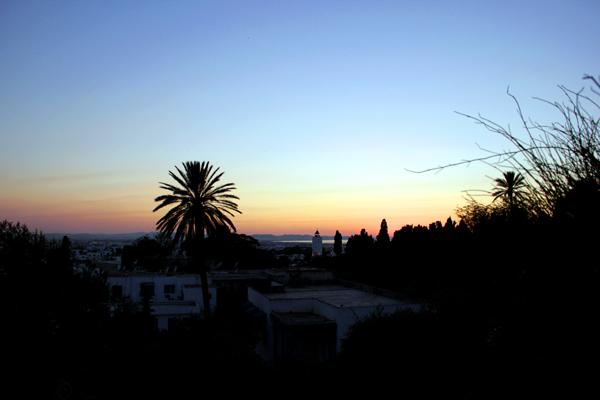 Atardecer en Sidi bu Said