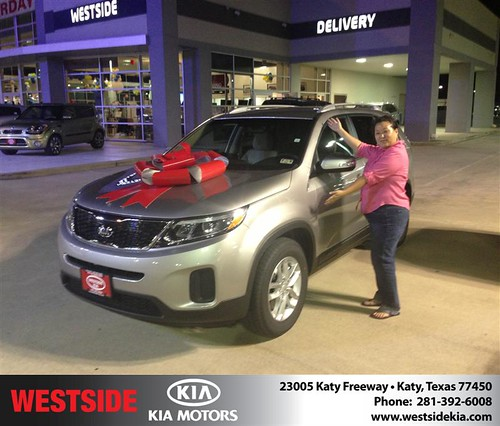 Thank you to Su Lee on the 2014 Kia Sorento from Damon  Clayton  and everyone at Westside Kia! by Westside KIA