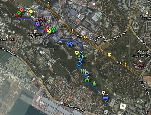 Battle of Pasir Panjang & LSM1103 Kent Ridge Walking Routes - Google Maps