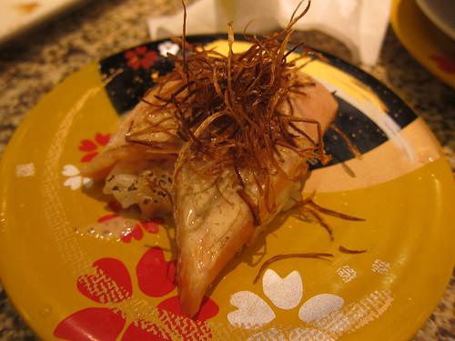 Salmon with Sesame Sauce and Fried Leeks