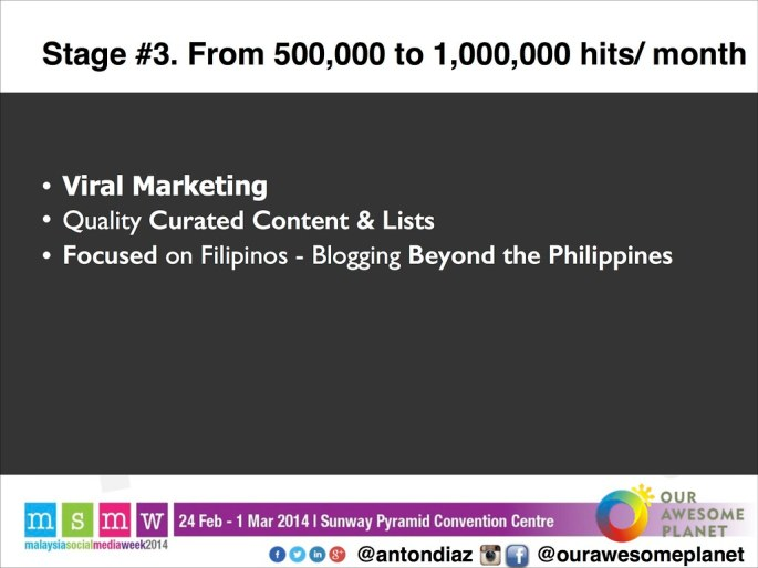 The Road to 1,000,000 Pageviews - The OAP Story MSMW2014 -19