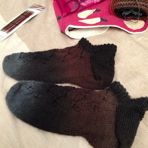 Second sock finished! I love them #moucheskal13 #knitting