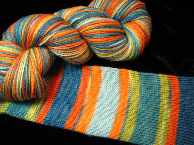Ville Nova - August 2013 Tiger Club - Safari Sock Yarn