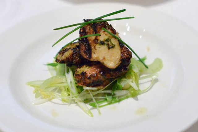 Grilled Octopus with potatoes, celery & lemon