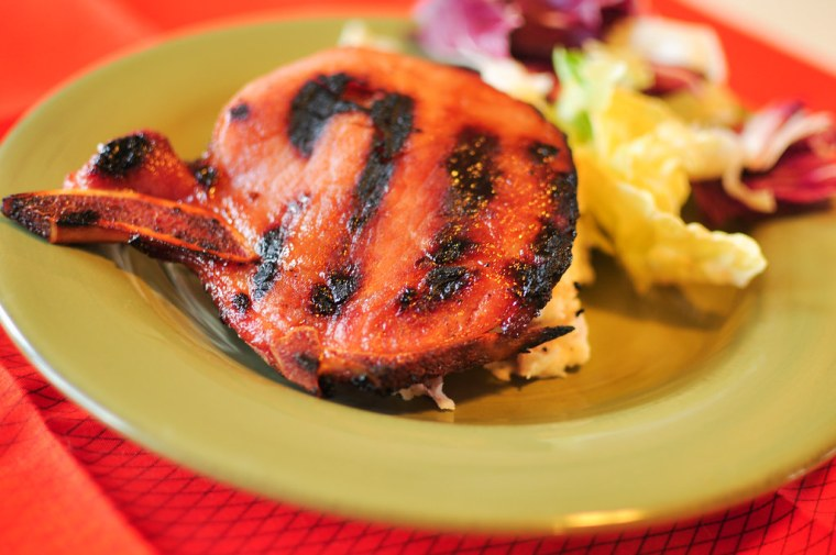 Grilled Smoked Pork Chops
