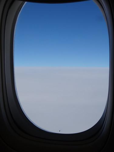大雪だけど上空は当然青空