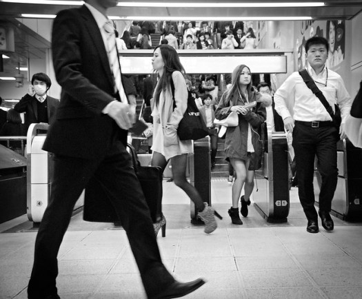 Busy Tokyo Commuters, by Pixelglo Photography