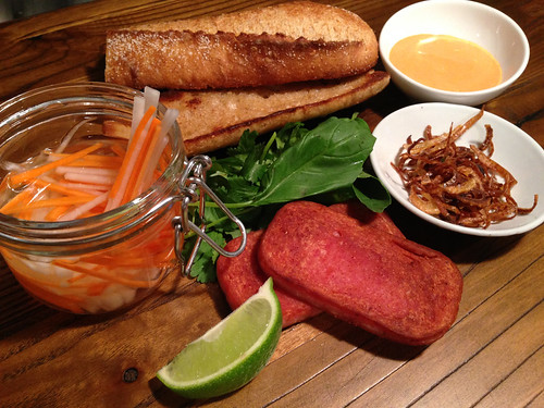 Ready To Assemble the Spam Bánh Mì