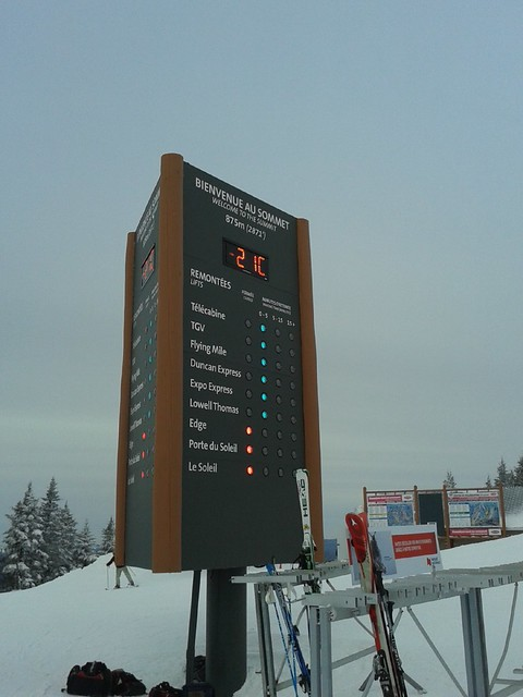 Temperature at top of Mont Tremblant