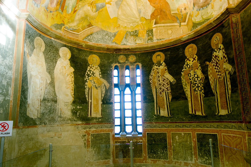 Wall mosaics in the Chora Church, Istanbul.