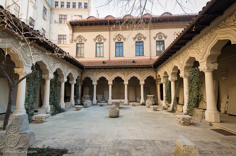Manastirea Stravopoleos curte