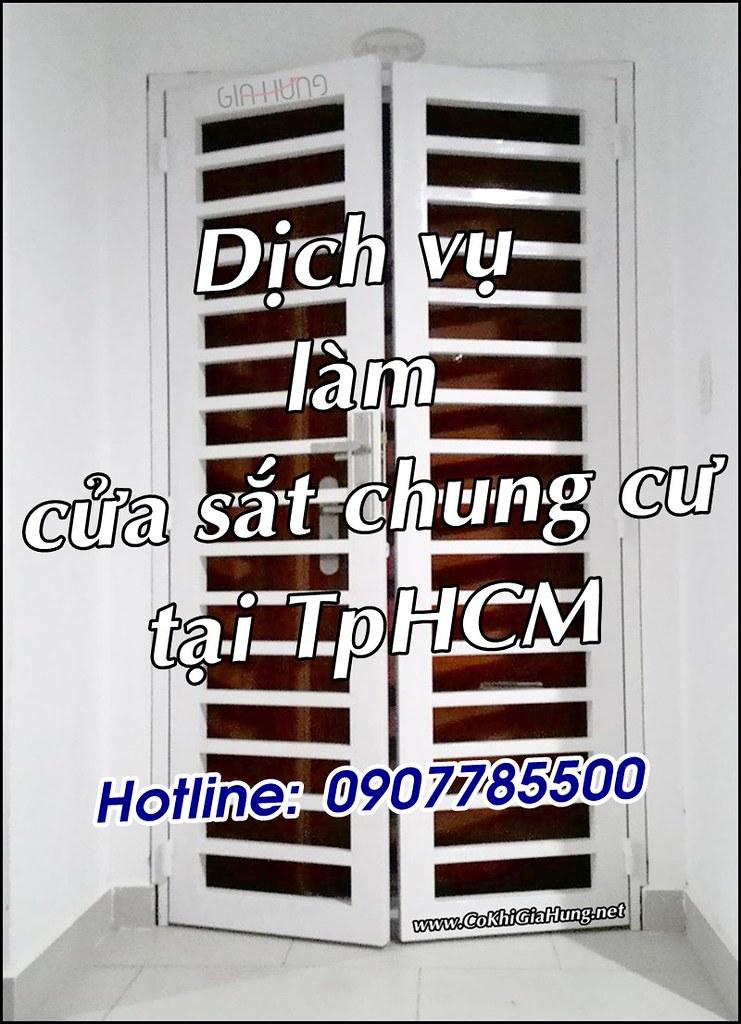 Dịch vụ làm cửa sắt chung cư trọn gói giá rẻ tại TpHCM