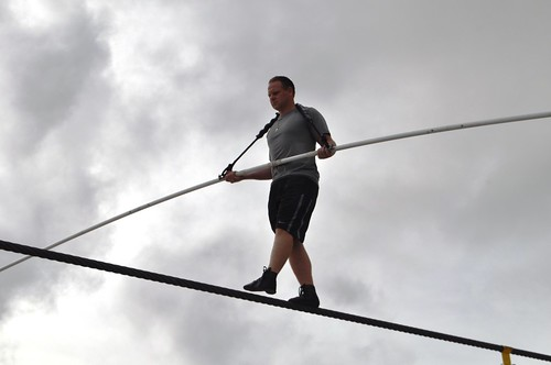 It's Obvious Nik Wallenda is Comfortable on the High Wire, Nathan Benderson Park, Sarasota, Fla., Friday, June 7, 2013
