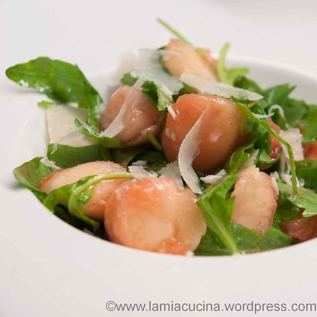Pfirsich-Rucola-Salat 2013 07 24_1128