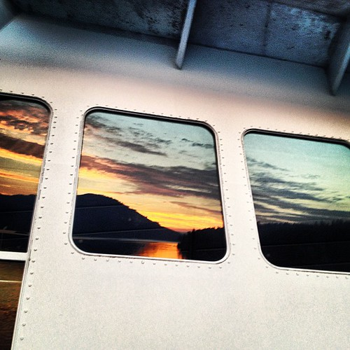 #sunset reflection BC Ferry Canada by @MySoDotCom