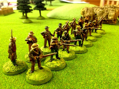Firing line, with officer converted to sergeant