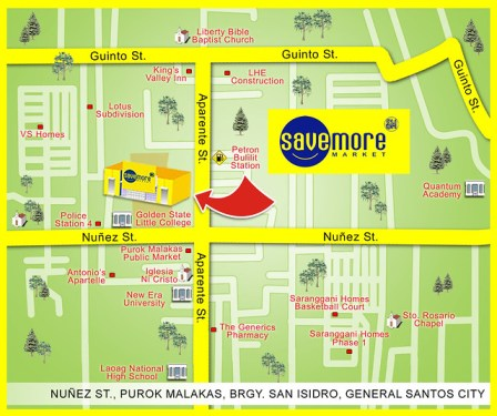 sm savemore market gensan map