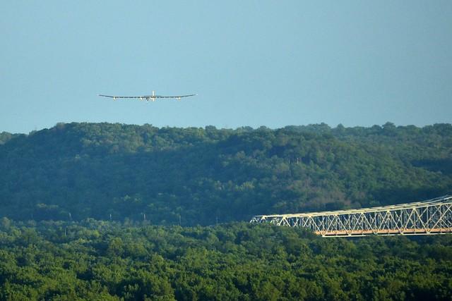 Solar Impulse Across the River