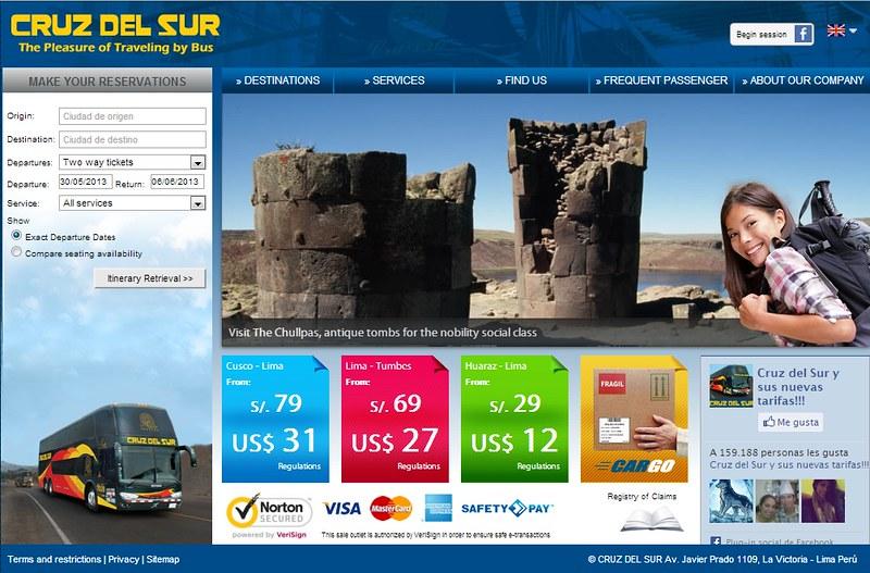 Overexposed Model on Cruz del Sur website.