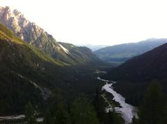 Aufstieg Zsigmondyhütte Blick ins Tal, Sexten