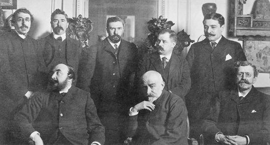 Buổi làm việc đầu tiên của viện Hàn lâm Goncourt năm 1903.