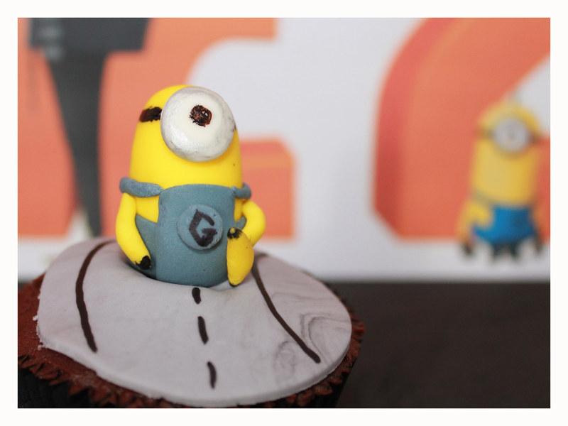 cupcakes de platano y chocolate