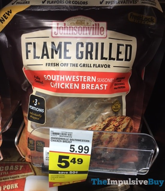 Johnsonville Flame Grilled Southwestern Chicken Breast