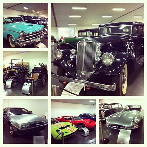 Vintage cars: Chevrolet, Jaguar, Delorean, Lamborghini, etc.