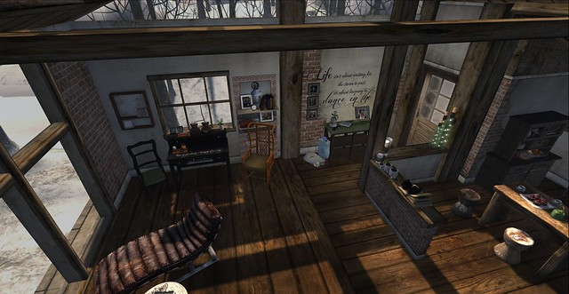 Winter Cottage: Bird's Eye View