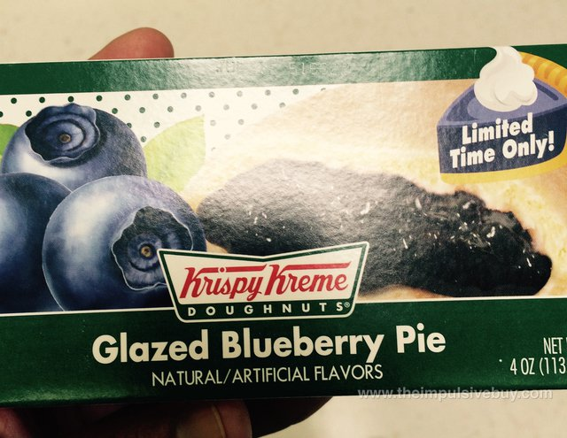 Krispy Kreme Limited Time Only Glazed Blueberry Pie