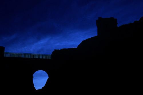 Noctilucent silhouette