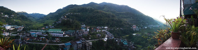 Panorama from Sanafe Lodge & Restaurant Banaue Ifugao
