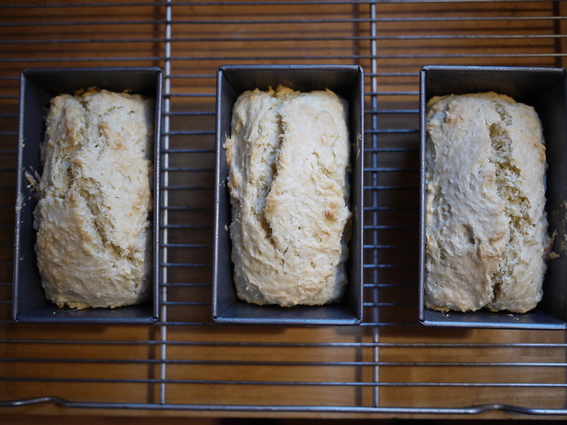 Tongan Coconut Bread - Out of the oven