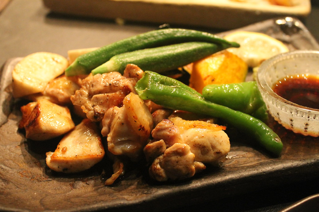 Pollo, calabaza, calabacín, patata y pimiento, en 'Isoya'