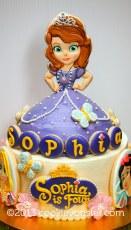 Sofia the First princess cake