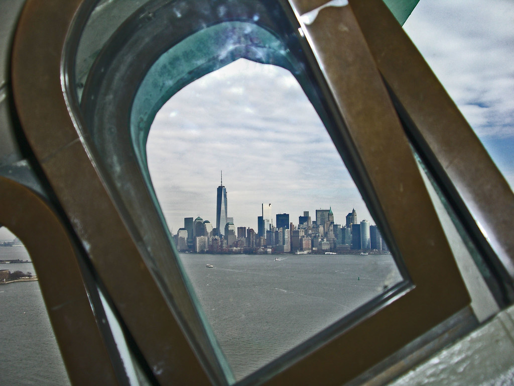 View of city from the Crown Statue of Liberty