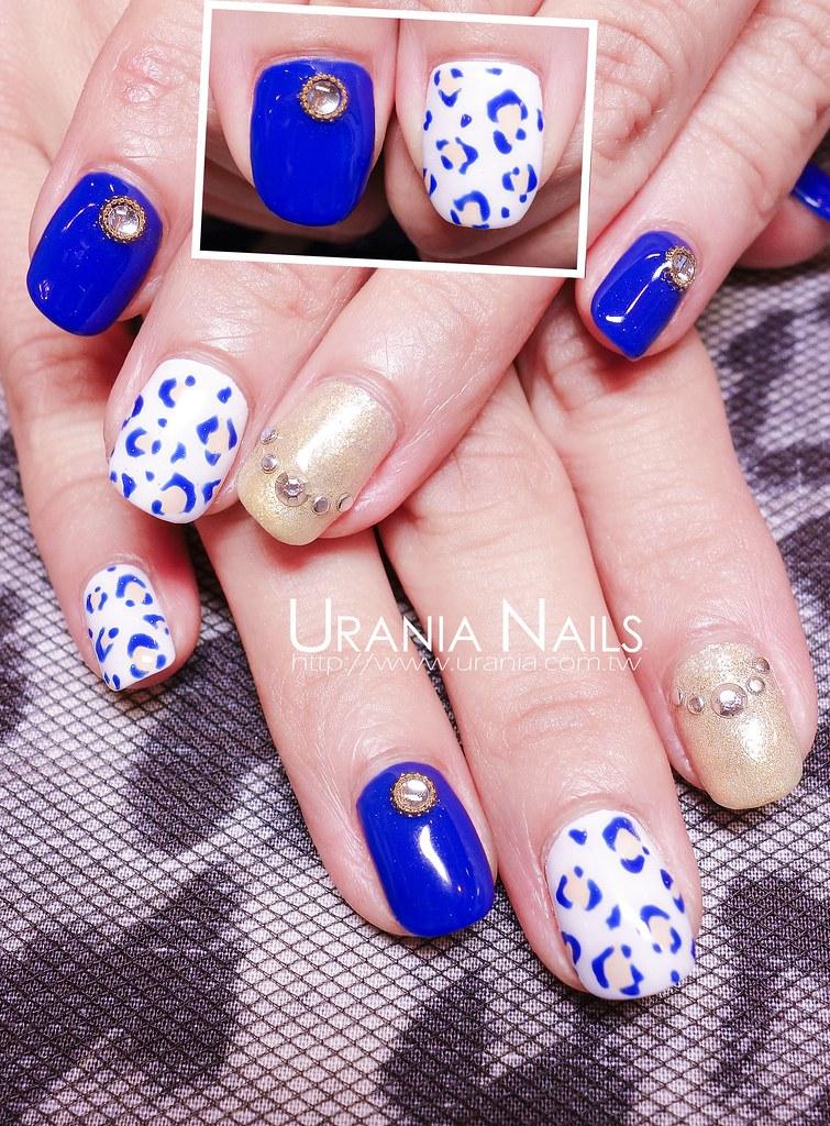 2014春夏光療指甲 電光藍Dazzing Blue